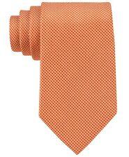 MICHAEL KORS Silk Sorento Solid Orange Neat Tie New Free Shipping