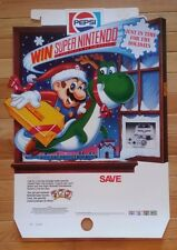 Vintage NOS Store Display  / Pepsi Christmas / Super Nintendo / Mario / 1991