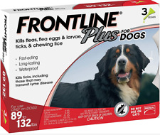 Frontline Plus for Big DOGS Flea & Tick Control 3 Doses 89-132lbs Monthly Supply