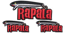 3 RAPALA Original Floater Embroidered iron on Cloth Patch for bags and vast