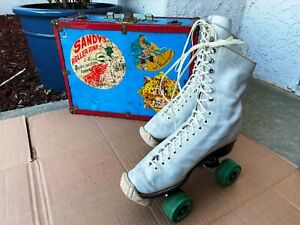 Vintage Betty Lytle Styled by Hyde Roller Skates SZ 8 Chicago Plates W/ Case