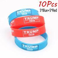 10x President Trump 2020 Silicone Bracelet Wristband KEEP AMERICA GREAT Bracelet