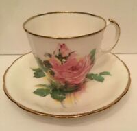 Jason Tea Cup & Saucer Cabbage Rose Pattern Bone China Made In England J.578