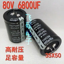 2pcs YIHCON  80V 6800UF audio power amplifier filter capacitor 35X50MM #FOL CY
