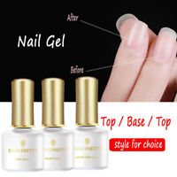 Résine Rubber Top Coat Base Coat Led Gel Vernis À Ongles UV Nail Primer Manucure