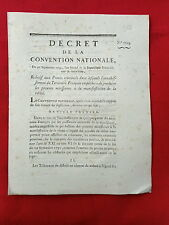 566 LOI & DECRET CONVENTION NATIONALE 1793 PROCÉS CRIMINELS  TRIBUNAUX PREUVES