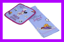 🌴 Disney Epcot Chef Minnie Queen of Cuisine Towel Potholder Set Food & Wine New