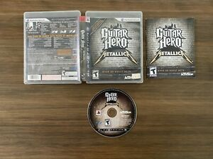 Guitar Hero: Metallica (Sony PlayStation 3 PS3) [Complete In Box]