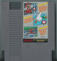 Super Mario Bros. /Duck Hunt /World Class Track Meet (NES, 1988) (Game Only)