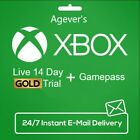XBOX LIVE 14 Day GOLD + Game Pass (Ultimate) Trial Code INSTANT DISPATCH GLOBAL For Sale