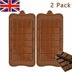 1Pcs Silicone Chocolate Bar Mould Chocolatier Mould Snap Wax Melt Bake Molding