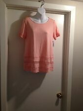 NWT Peach Old Navy Cut Out Top Size XS