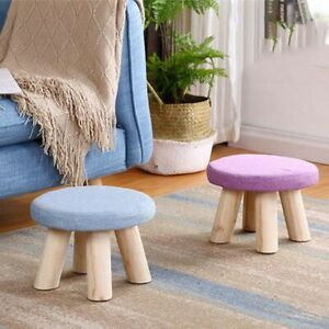 Nordic Style Seat Stool with Washable Cover Minimalist Stool for Casual Sitting