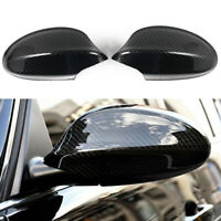 Pair Carbon Fiber Side Rear View Mirror Cover Cap For BMW E90 E91 2005-2007 2008