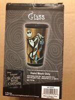 NEW~DISNEY~TIM BURTON'S THE NIGHTMARE BEFORE CHRISTMAS~JACK,SALLY & ZERO GLASS