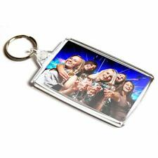 Large Plastic BLANK KEYRING 70 x45 mm Double Sided Insert Your Own Photo/Picture