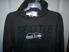 Seattle Seahawks Gray Hooded Sweatshirt Mens 2XL New w/ Tags FREE SHIPPING