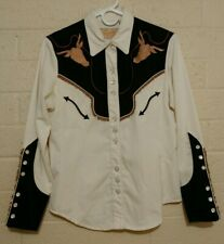 Womens vintage Scully western Rodeo shirt, pearl snap. Rockabilly. Tassels.
