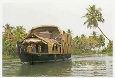 (82114) Postcard India Alleppy Backwaters Boat #3 - un-posted