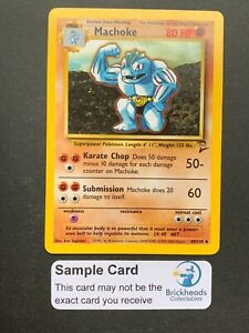 Machoke 49/130 Uncommon   Base Set 2   Pokemon Card