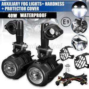 2x Motorrad LED Nebelleuchte Zusatzscheinwerfer E9-Geprüft für BMW R1200GS F800