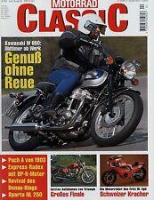 Motorrad Classic 4/99 1999 Express Radex Sparta NL 250 Fritz W. Egli Donau Ring
