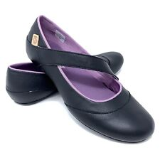 Merrell Inde Lave MJ Mary Jane Flats Size 7.5 Black Purple Walking Shoe NEW!