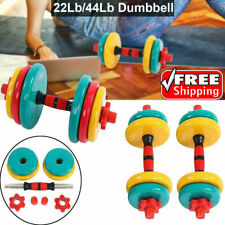 10KG Dumbells Free Weights Home Gym Fitness Equipment Adjustable Weight Sets USA