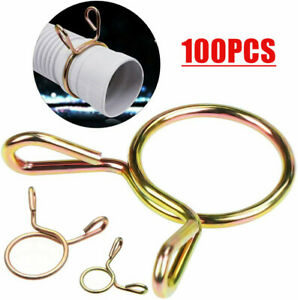 100PCS Hose Clamp Spring Clips Gear Hose Fuel Line Clamp for Boat ATV Motorcycle