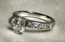 925 Sterling Silver Size 8.5 4ct Cubic Zarconia Wedding Promise Anniversary