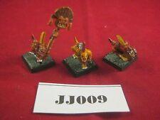 OOP Warhammer  Lizardmen Skink Command Group 1998 Metal Ref JJ009
