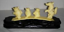 Disney Early Three Pigs and Big bad Wolf display scene on base undamaged