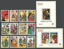 More details for belize 1980 year of the child sleeping beauty fairytales set & 2 m/sheets mnh