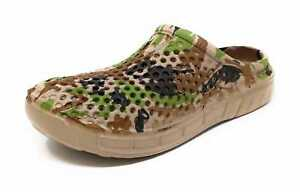 JEFFRICO Clogs for Women Nurse Shoes Garden Shoes Slip On Clogs Green Camouflage