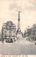 BRUXELLES BELGIUM MONUMENT ANSPACH POSTCARD c1906