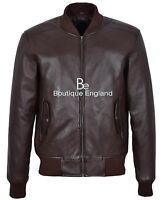 70'S RETRO BOMBER Jacket Men's Brown Classic Soft Italian Nappa Leather 1229