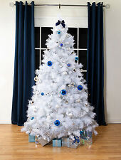 Artificial Christmas Trees, White  Scandinavian Fir Xmas Tree, 7ft, 1019 tips