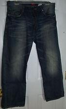 Men's Sean John Jeans Hamilton Size 34 x 30 Inseam Wide Leg Relaxed Distressed