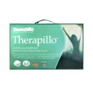 Dunlopillo Therapill Flexible Support Memory Fibre Medium Profile Pillow