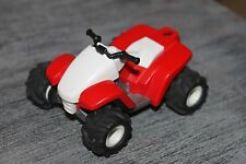 PLAYMOBIL SPORT - QUAD Adulte Rouge et blanc Roulement à friction - Sport auto