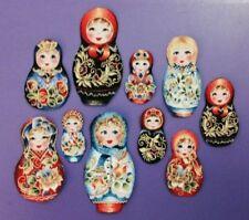 New listing Kiev Russian Nesting Doll Iron On Appliques*Set of 10*Handmade/93