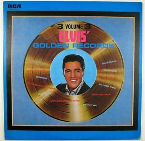 "ELVIS PRESLEY Elvis"" Golden Records Volume 3. LP 1973 ROCK NM- NM-"
