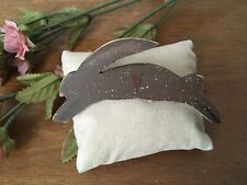 Bunny Pin Handcrafted Rabbit Brooch Primitive Country