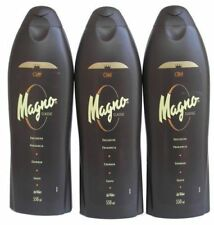3 Bottles of Magno Classic Shower Gel 18.3oz./550ml by Magno