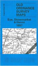 OLD ORDNANCE SURVEY MAP EYE, STOWMARKET & DISTRICT 1897