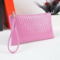 Women Fashion Shoulder Bag Crocodile Leather Clutch Messenger Handbag Coin Purse