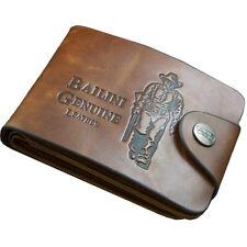 Herrenmode Gedruckt Jäger Muster Leder Bifold Brieftasche Kredit Karte Halterung