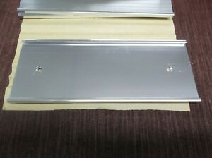"""Name Plate Holders Wall Bracket lot of 4 JRS37-8S silver  3"""" x 8"""" x 1/16"""""""