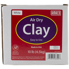 AMACO 4630-2B Air Dry Modeling Clay, 10-Pound, White