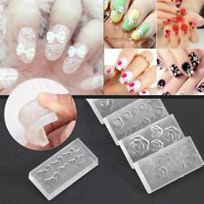 6pcs DIY Nail Art Tips 3D UV GEL Acrylic Powder Silicone Mould Set Nail Design F